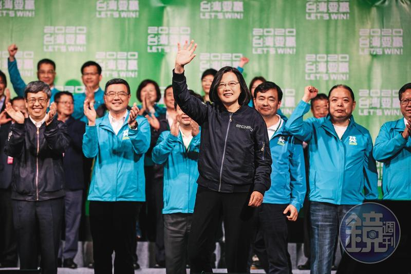 蔡英文創下中華民國直選總統以來最高票817萬231票,得票率57.1%順利連任。