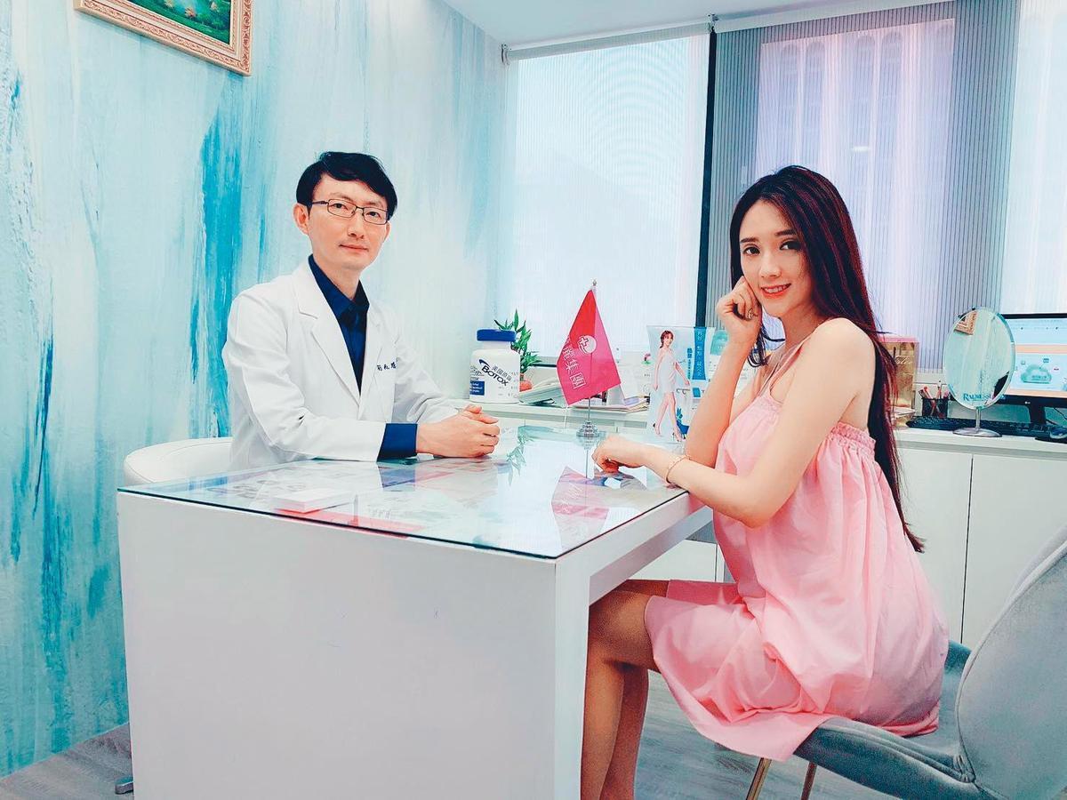翁子涵曾在臉書中,分享自己上醫美診所的經驗。(翻攝自翁子涵臉書)