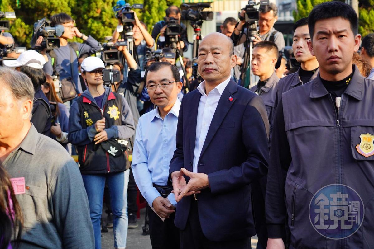 投票日,韓國瑜回到戶籍地高雄市林園區投票。