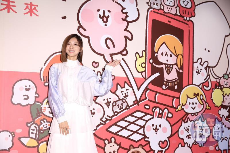 豆花妹蔡黃汝出席卡娜赫拉15週年特展。