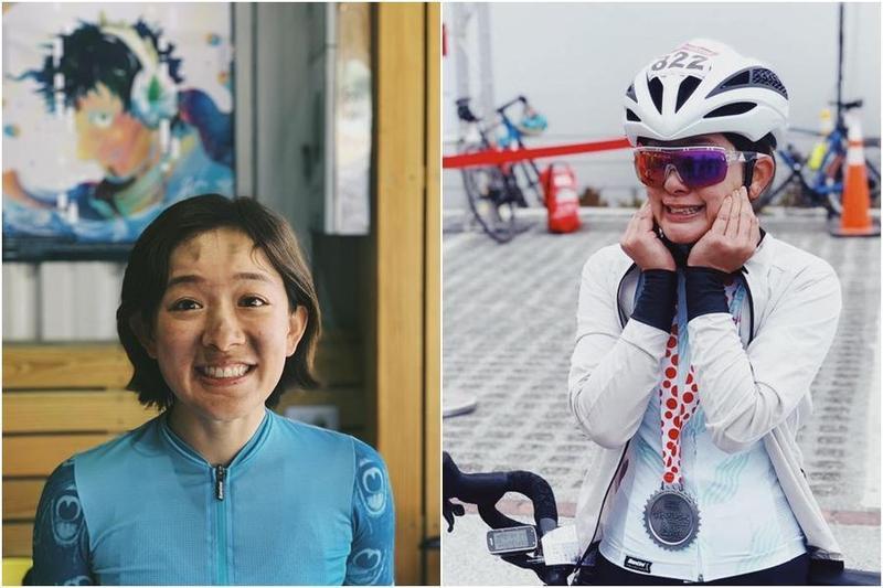 林彥君常在網路上分享騎單車的照片。(翻攝自林彥君 151臉書)