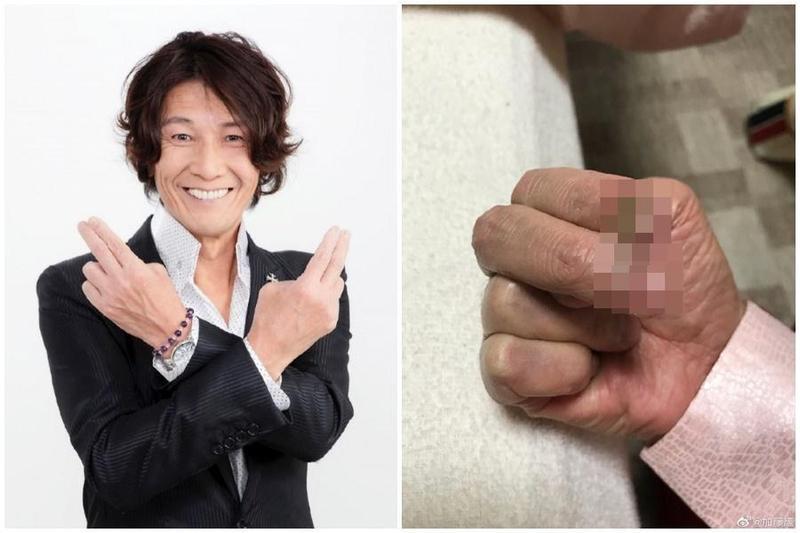 日本知名AV男優加藤鷹近況照曝光,金手指疑似已經「生鏽」讓人相當驚訝。(翻攝自加藤鷹微博)