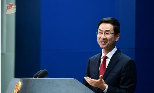 針對總統蔡英文的發言,中國外交部發言人耿爽重申世界上只有一個中國。(翻攝中國外交部)