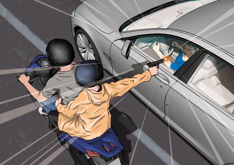 2004年10月,台中娛樂界大亨柳東坡在街頭遭槍手狙殺,死於賓士車內。