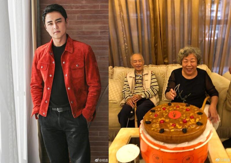 明道年收入上億新台幣,曾心疼媽媽辛苦不願她賣地瓜,但他在台灣時也會幫忙媽媽擺攤。(翻攝明道微博)