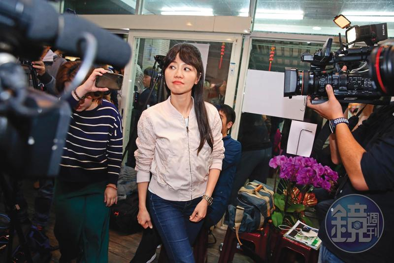 民進黨準立委高嘉瑜抽到青島二館研究室。
