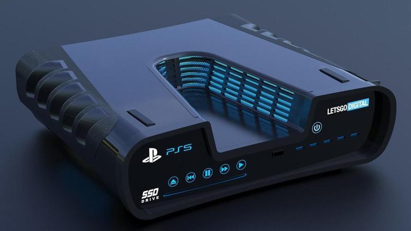 網路已盛傳多組 PS5 的主機模擬圖。(翻攝網路)