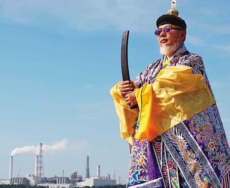 張捷翔說,2018年台灣減香聲浪不斷,道教界只有他一個天師親赴凱道抗議。(翻攝網路)