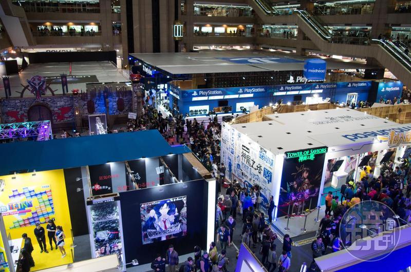 2020台北國際電玩展宣布不受武漢肺炎疫情影響,將如期於2月6日舉行。圖為2017年電玩展盛況。
