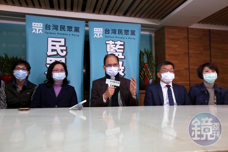 游錫堃今拜會時,所有人都戴著口罩。