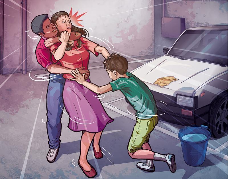 小峰和小銓在國小地下停車場內,猥褻、殺害吳曉蕙老師。