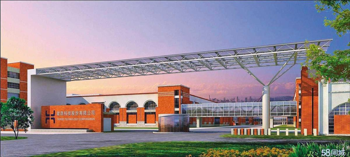 PCB板廠健鼎在湖北仙桃有工廠,目前採取防守策略不讓外人進入。(翻攝自58同城)