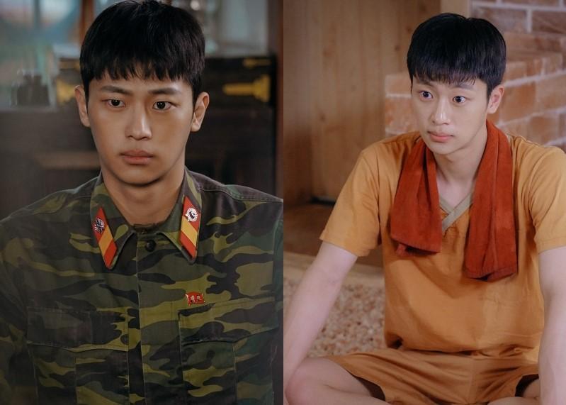 李信盈在《愛的迫降》飾演玄彬的下屬,外型神似金秀賢的他也因戲一夕爆紅。(Netflix提供)