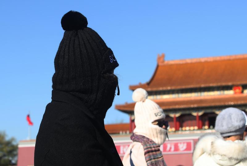 北京天安門廣場上的遊客。(東方IC)