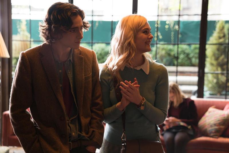 新生代鮮肉提摩西夏勒梅,電影中為了女友艾兒芬妮,打算安排一段紐約的浪漫之旅。(甲上提供)
