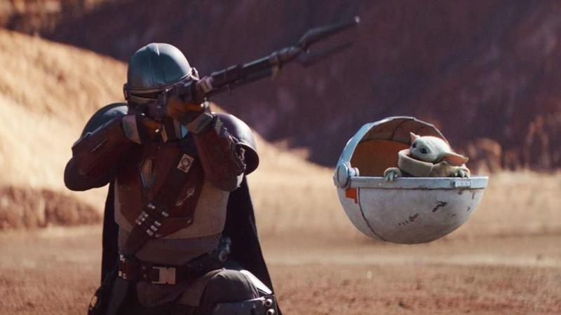 迪士尼推出的串流平台Disney Plus去年11月上線,首波原創影集主打星戰系列的衍伸劇《曼達洛人》。(翻攝自disneyplus.com)