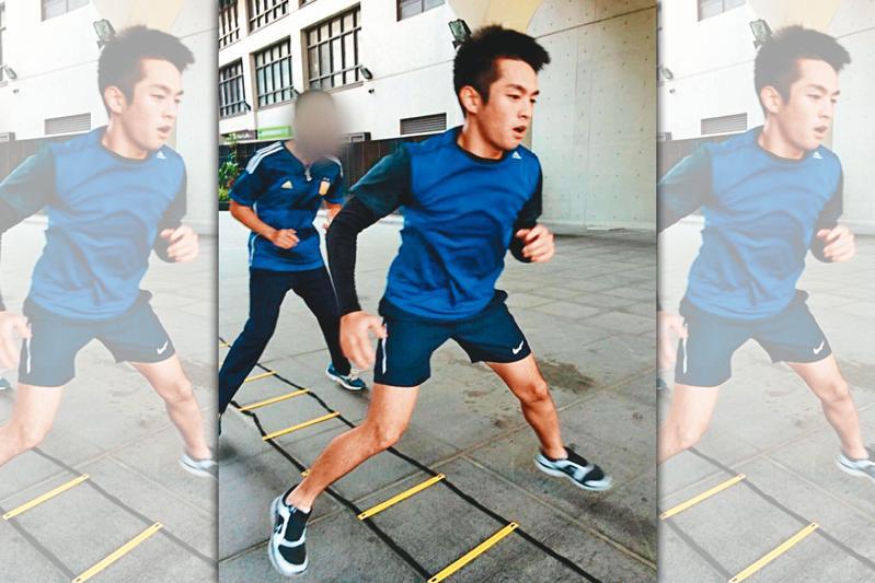 凶手黃靖亞是高醫大橄欖球隊成員,常在課後接受訓練。(翻攝畫面)