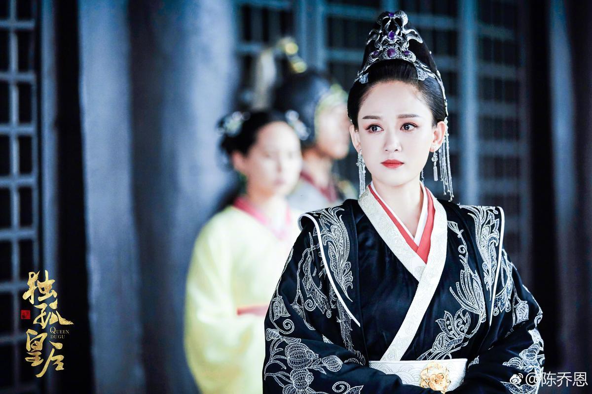 陳喬恩在《獨孤皇后》的演出被嘲老,演技也被嘲「Angelababy附身」。(翻攝自陳喬恩微博)