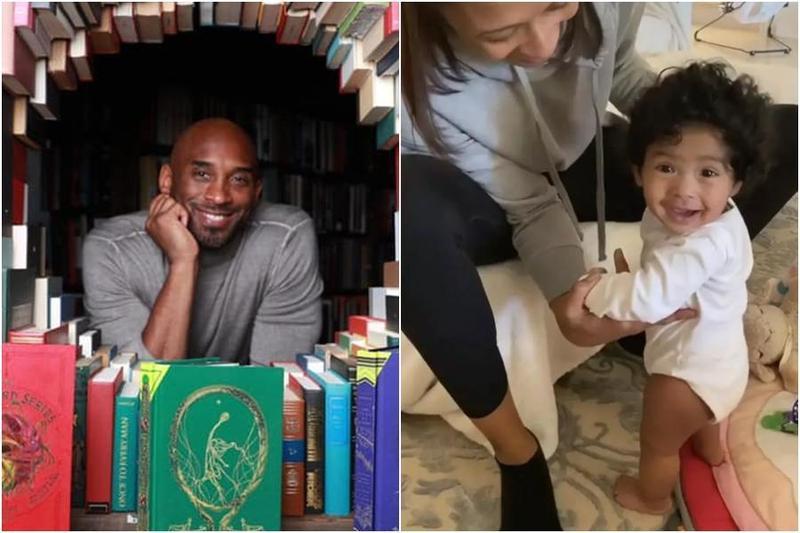 在Kobe與二女兒因墜機身亡的20多天後,凡妮莎貼出了小女兒學站的影片,卻格外令人心疼。(左圖翻攝自Kobe Bryant臉書、右圖翻攝自Vanessa Bryant IG)