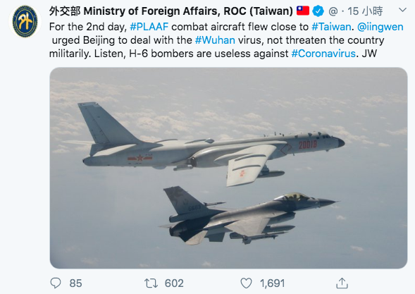 外交部長吳釗燮在外交部推特上反擊中國。(翻攝外交部推特)