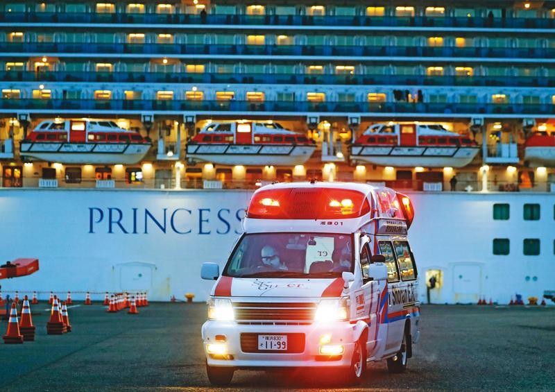 鑽石公主號遊輪確診案例不斷新增,船客過去接觸過的對象,已成政府密切鎖定防堵的感染源之一。(達志影像)