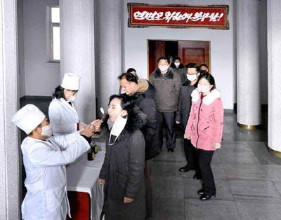 北韓官媒報導全國加強新型冠狀病毒的各項防疫措施。(網路截圖:Rodong Sinmun)