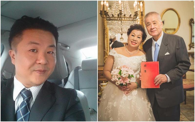 呂秋遠(左)不僅替母親圓夢拍婚紗,更翻出父母親54年前的結婚禮金簿。(翻攝自呂秋遠臉書)