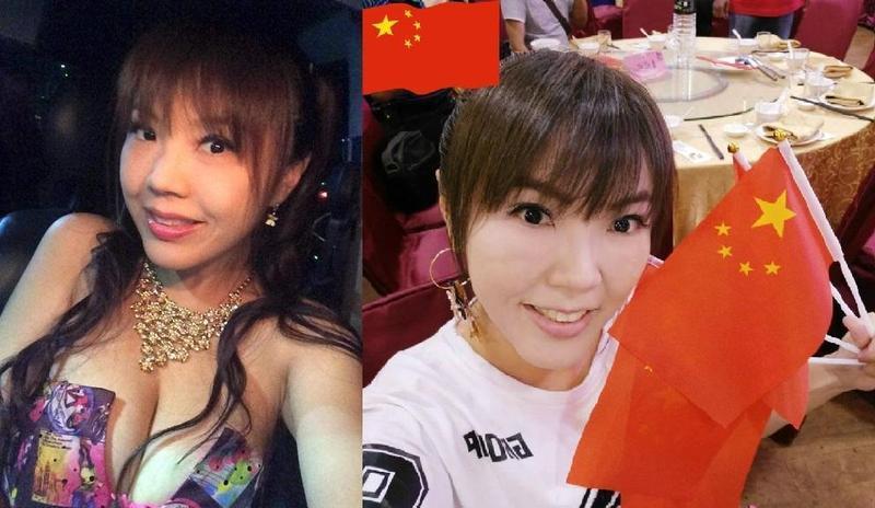 劉樂妍因時常發表親中言論,被台灣網友封為「女版黃安」。(翻攝自劉樂妍臉書)