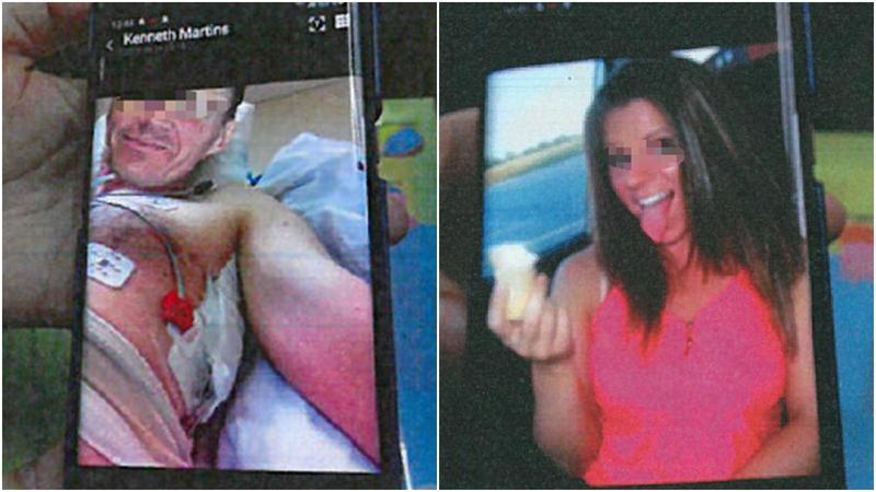 愛情詐騙歹徒使用受傷或假女兒照片行騙。(翻攝畫面)