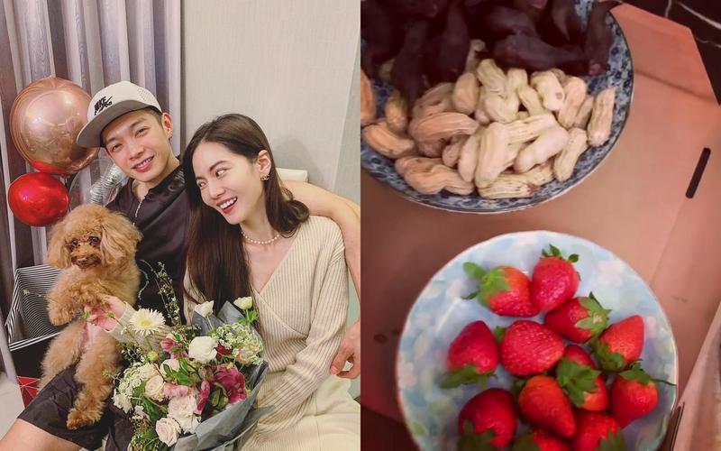 曾之喬與辰亦儒慶祝婚後第一個西洋情人節。(翻攝自曾之喬IG)