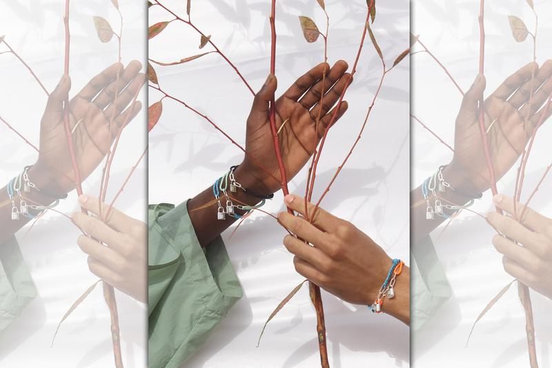 Virgil Abloh設計的4款Silver Lockit手鍊將於本週五開始販售。(路易威登提供)