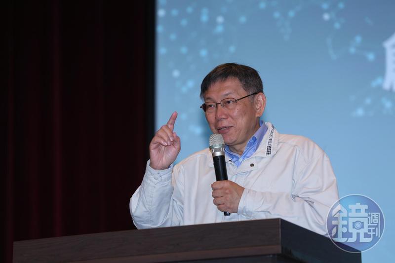 台北市長柯文哲要求消防局拍片,宣導酒精安全使用方法。圖為資料照。