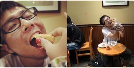 也有網友PO文回應,如何獨自拍出「女友餵食照」。(翻攝自@m3Rce8zyrqF1GDW推特)