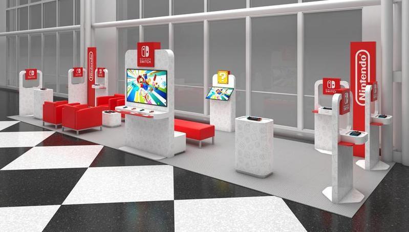 美國任天堂官方宣布,在美國境內的四座機場開設期間限定的「任天堂Switch休息室」。(翻攝美國任天堂官網)