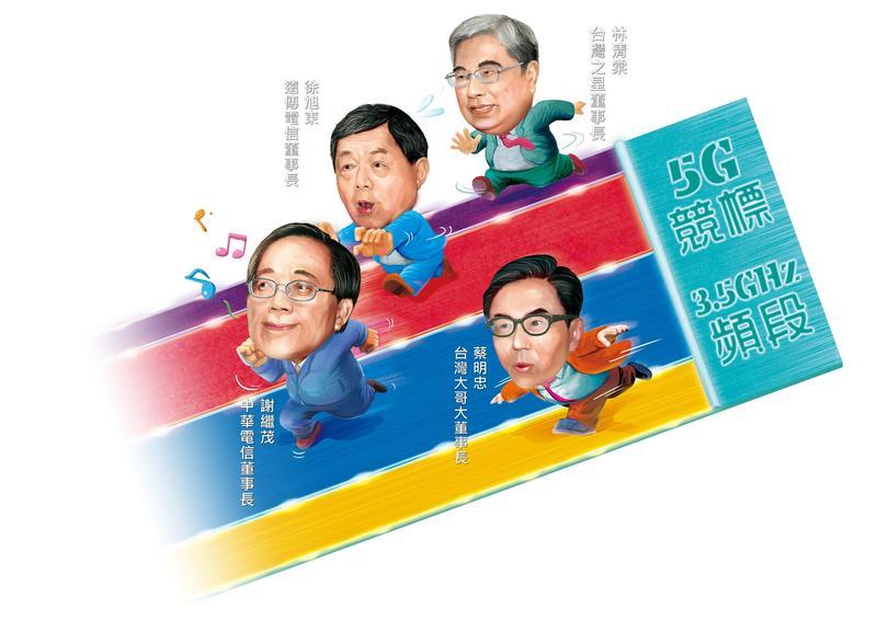 5G競標結果出爐,中華電信、遠傳各花20多億元如願標到最有利位置,台灣大、台灣之星原打算攜手,最後遭對手分隔2端。