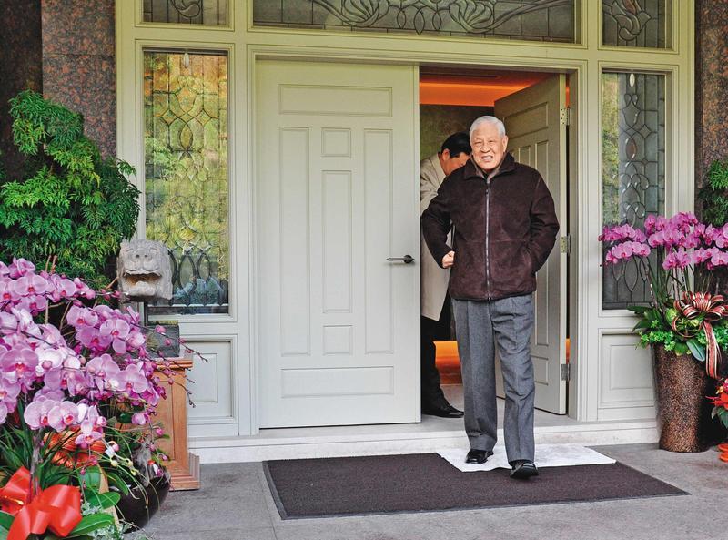 李登輝卸任後,多半時間住在台北市郊外雙溪的翠山莊,他亦常在此接見外賓。(李登輝基金會提供)