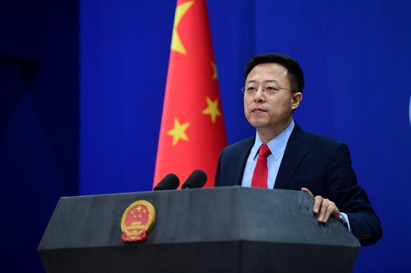 中國外交部新任發言人趙立堅(圖),被網友發現推特帳號追蹤日本知名前AV女優蒼井空。(翻攝自@zlj517推特)