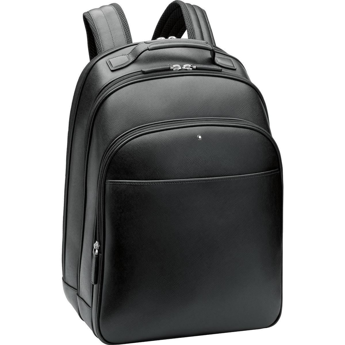 萬寶龍匠心系列黑色大型後背包。NT$31,900(萬寶龍提供)