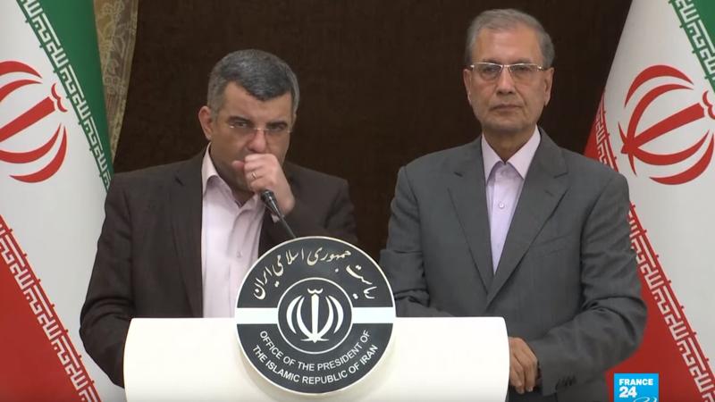 伊朗衛生部副部長哈利奇(Iraj Harirchi)確診感染新冠肺炎。(翻攝自YouTube)