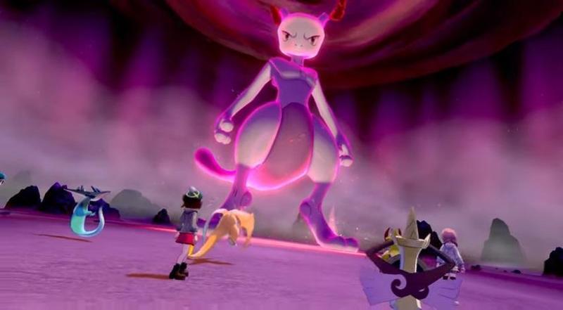 「超夢」限時在《寶可夢 劍 / 盾》的極巨團體戰中登場。(翻攝YouTube頻道:寶可夢 台灣)