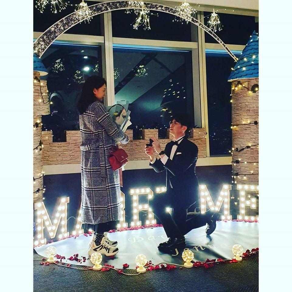 王思平公布求婚照,過程浪漫又溫馨。(翻攝自王思平IG)