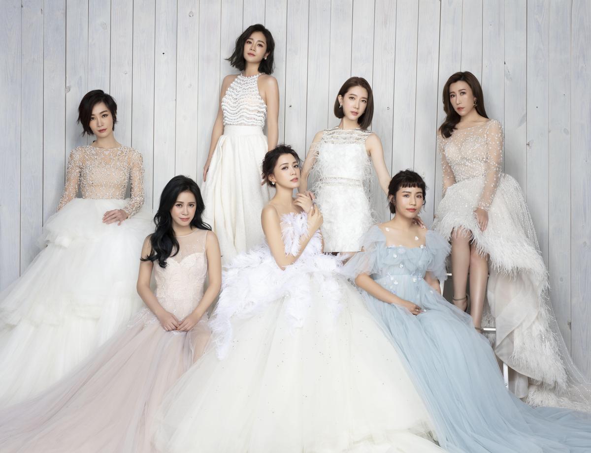 王思平邀來閨密們,一起入鏡拍婚紗照。(日出工作室提供)