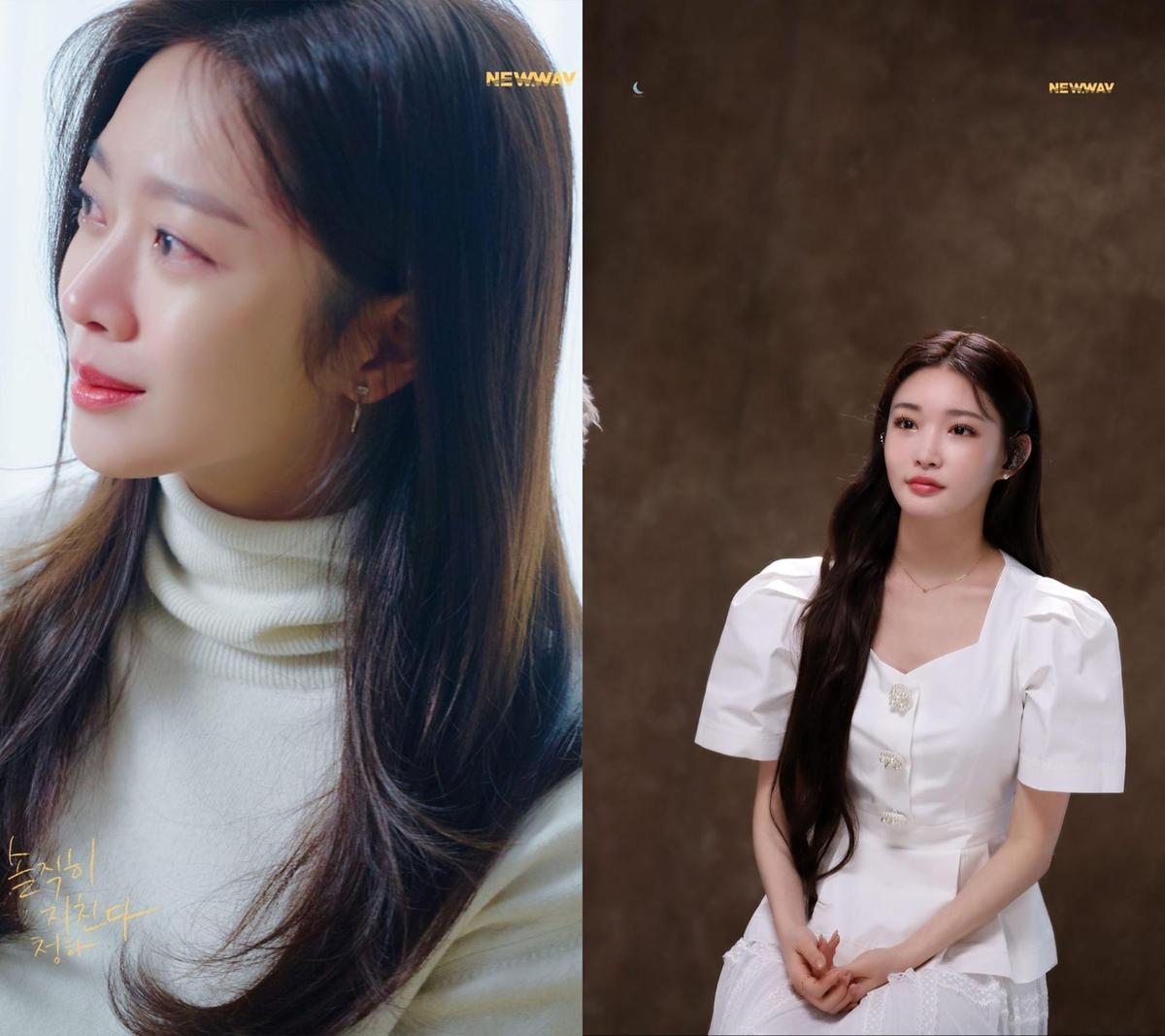 請夏新歌《Everybody Has》MV請來演員趙寶兒(左)擔任MV女主角。(翻攝請夏IG)