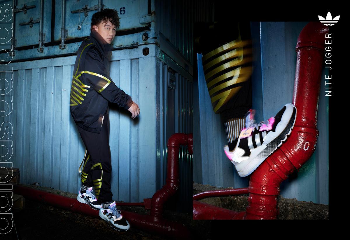 adidas Originals邀請陳奕迅潮流演繹全新Nite Jogger系列鞋款形象照。(adidas Originals提供)