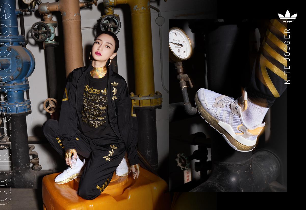 adidas Originals邀請Angelababy個性詮釋全新Nite Jogger系列鞋款形象照。(adidas Originals提供)