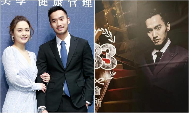 賴弘國的照片竟赫然出現在新開牛郎店「183男模會所」的招牌上(右,翻攝自183男模會所臉書)。