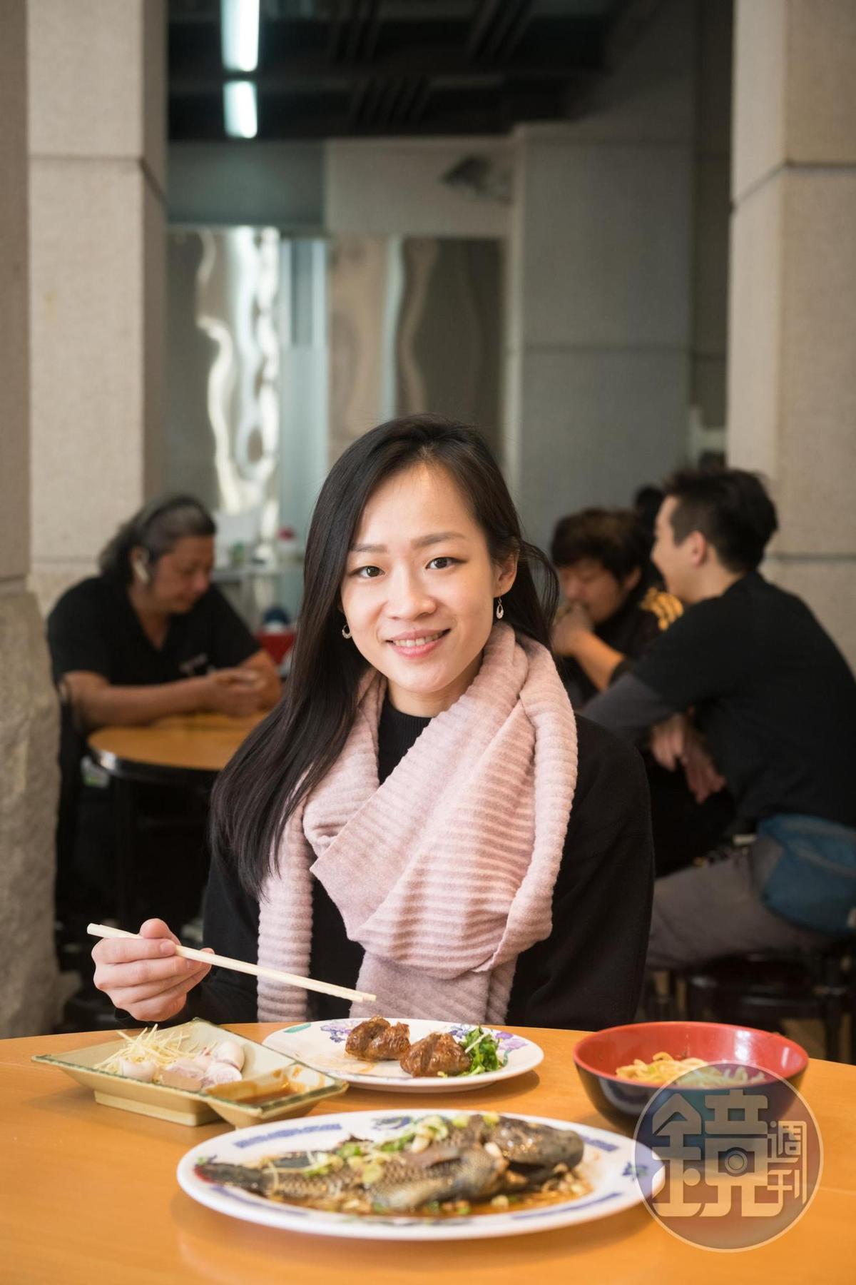 台中超人氣法式甜點店「CJSJ」老闆莊如,特別喜歡非市區的台中小吃。