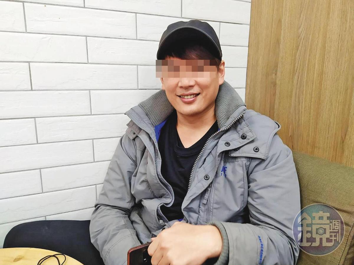 男模阿昌說,他在金三角待了3個月,最後總算歷劫歸來。(讀者提供)