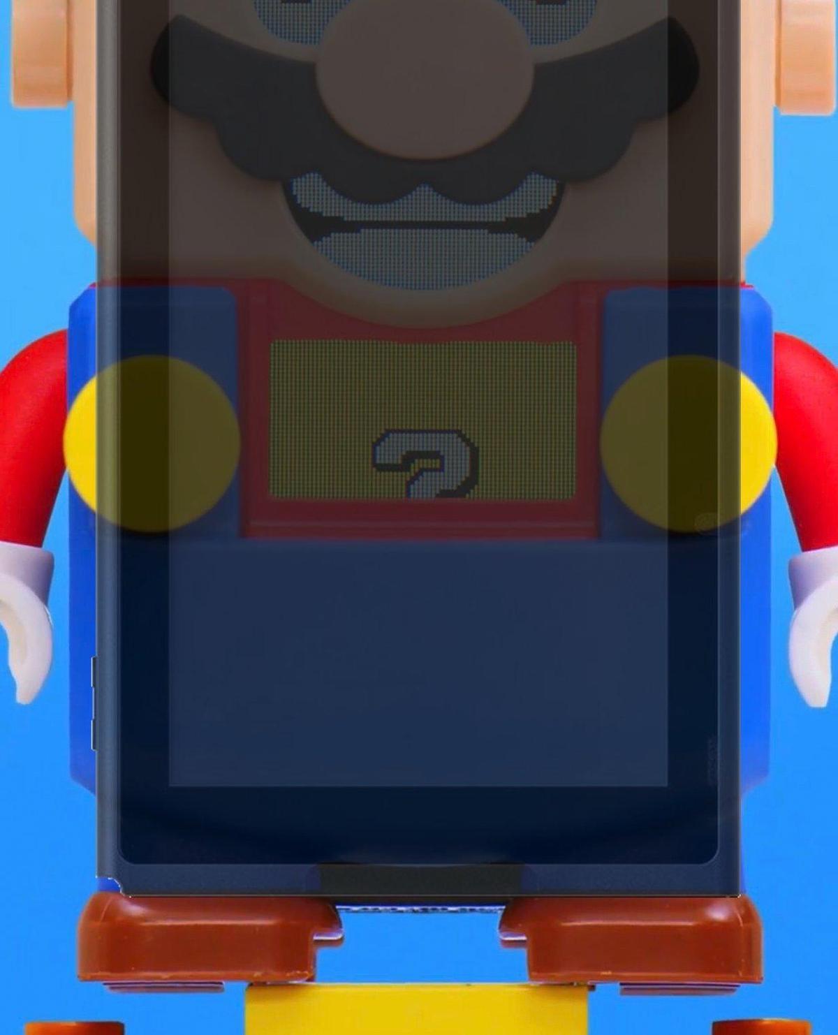 有網友推測樂高瑪利歐或許能放入Switch主機螢幕。(翻攝自@MonkeyDLenny Twitter)