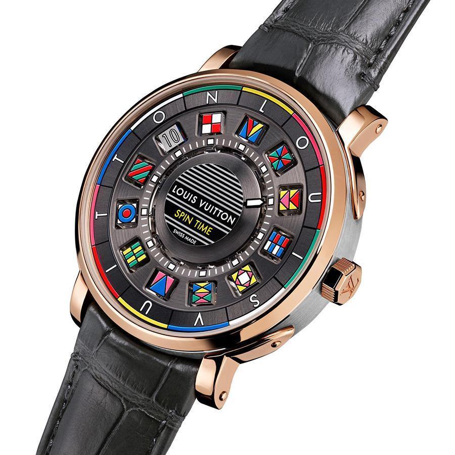 以立體方塊創意顯時的Spin Time,是LV和La Fabrique du Temps首次合作的結晶,為LV的手錶創造出一個icon。